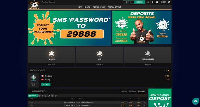 mCHEZA home page
