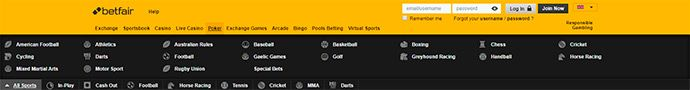 Other Betting Games at Betfair
