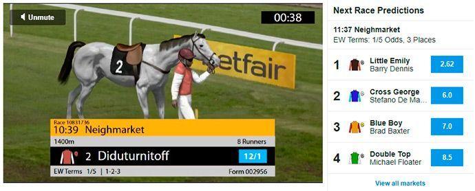 Betfair live-betting