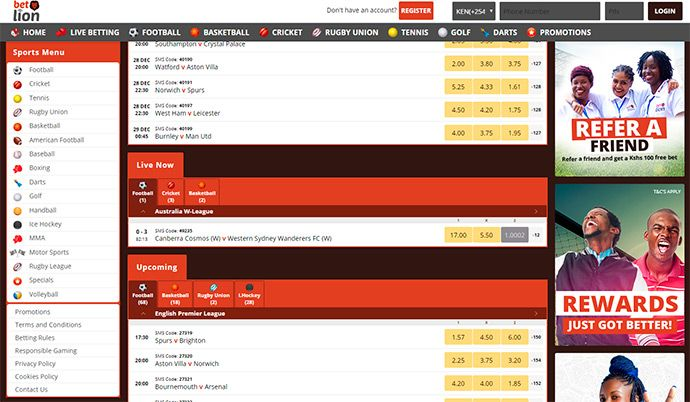 BetLion betting offers