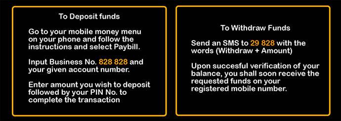 How to deposit funds