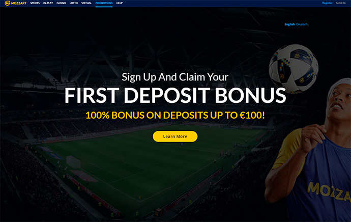 Mozzart Bet first deposit bonus