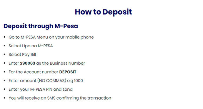 Shabiki.com deposit