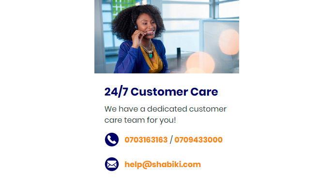 Shabiki customer care