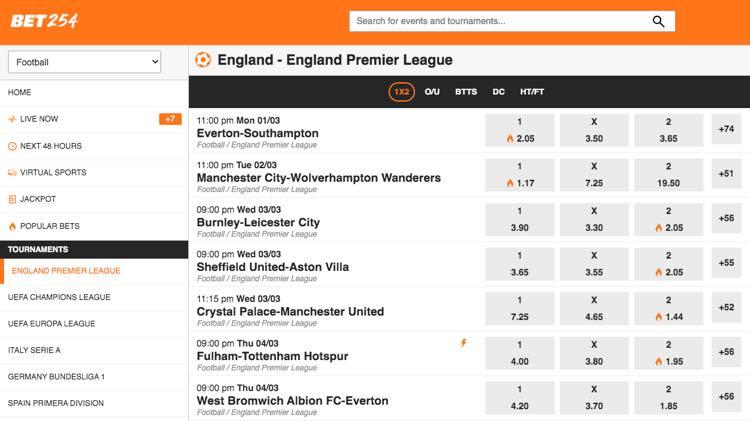 Bet254 - England Premier League